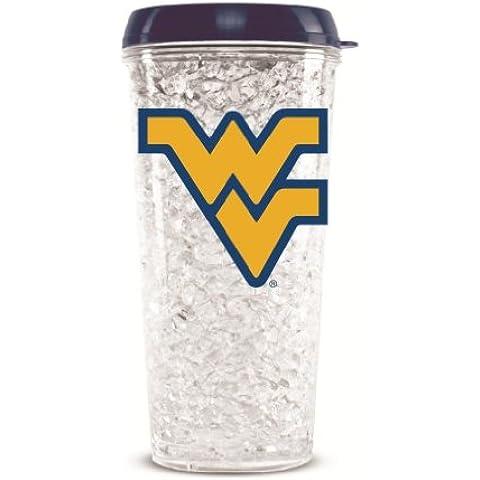 NCAA West Virginia University Crystal Tumbler