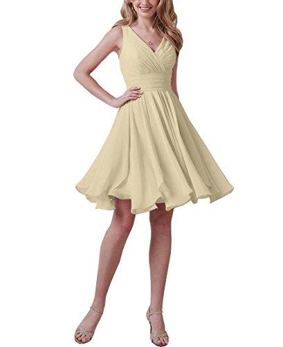 Aurora dresses Damen V-Ausschnitt Abendkleider Kurz Ballkleider Brautjungfern Kleider...