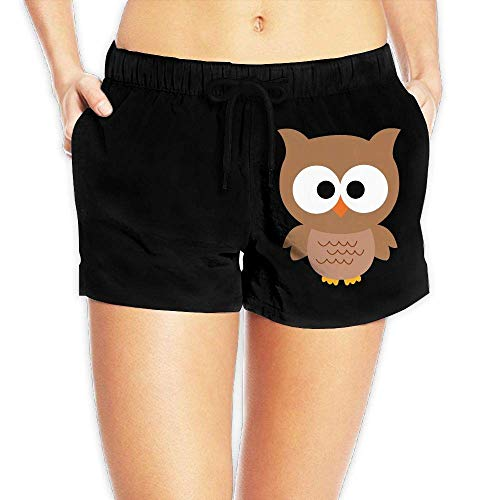 LULUZXOA Cartoon Owl Womens Printing Board/Beach Shorts Drawstring Swimming Shorts with Pockets,XL Soft-petite Womens Drawstring Pant