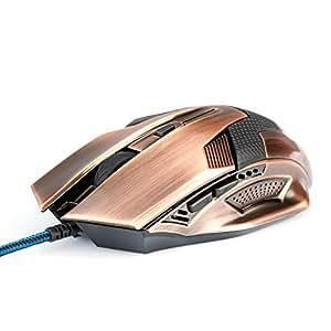 CSL-computer SCORPION USB Wired Mouse (Copper/cuivre)-souris optique filaire USB)/High/Precision reaktionsschnell/ergonomique/6 boutons et connecteurs or & Plug Play compatible Windows 10