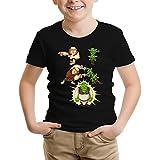 Clash Royale - Shrek Lustiges Schwarz Kinder T-Shirt - Shrek und die Giant und der Gobelins (Clash Royale - Shrek Parodie) (Ref:894)