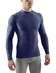 Sub Sports Herren Cold Kompressionsshirt Thermisch Funktionswäsche Base Layer Langarm (Mock/Rollkragen)