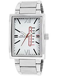 Maxima Attivo Day-Date White Dial Men -25143CMGI