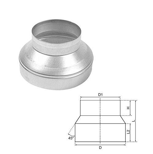 Reduzierstück 125 mm auf 100 mm zur Verjüngung oder Erweiterung von Rohren -