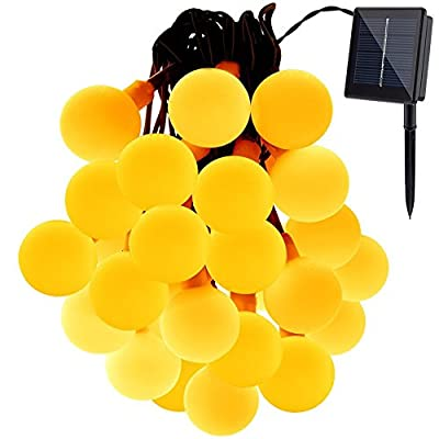 Solar Outdoor String Lights, GDEALER 31ft 50 LED Waterproof Ball Lights Christmas Lights Solar Powered Starry Fairy String lights for Garden, Patio, Yard, Home, Christmas Tree, Parties
