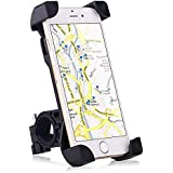 Bike Mount, Universal Cell Phone Bicycle Handlebar & Motorcycle Holder Cradle with 360 Rotate for iPhone 6s 6 5s 5c 5,Samsung