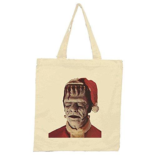 Frankenstein Père Noël naturel sac fourre-tout
