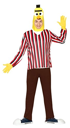 Mens Yellow Puppet Man TV Cartoon Stag Do Fancy Dress Costume Outfit Large ()