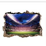 LIWEIXKY DIY Spielen Fußballhaus Abnehmbare Wandtattoo Startseite Aufkleber Wandbild Home 3D Wandaufkleber Onthewall F�