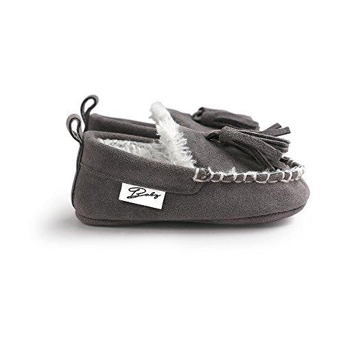 ESTAMICO , Baby Mädchen Krabbelschuhe & Puschen grau grau 12-18 Monate Grau