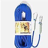 JohnJohnsen 9.5mm Outdoor-Klettern Sicherungsseil Kletterseil 10 Meter Blau Flucht Seil Schwimmleine (blau)