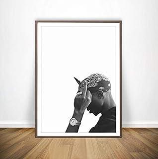 YaShengZhuangShi Dipinti su Tela Ritratto di Grandi e Tupac sul Muro Poster e Stampe Pac Modern Wall Art Immagini su Tela Decorazione Domestica 60x80cm Senza Cornice