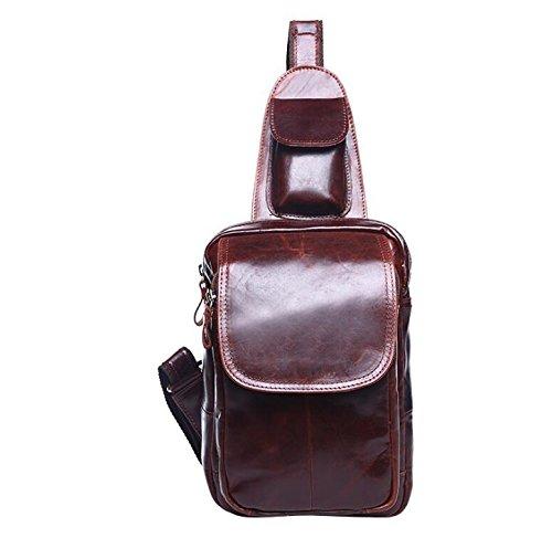 Verrückte Pferd Leder Mann Tasche Kuhfell Leder koreanischen Mann Tasche Brust für Herren casual geschleudert Paket 2