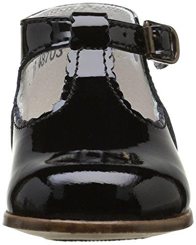 Little Mary Bastille, Chaussures Premiers Pas Bébé Fille Noir (Vernis Noir)