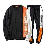 Trainingsanzug Herren,Patchwork Sweatshirt + Hosen Sätze Sport Anzug Trainingsanzug,❤️ Binggong Herren Mantel