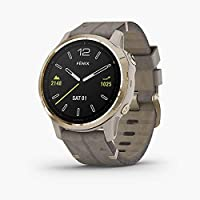 Garmin Fenix 6S Sapphire, Premium Multisport GPS Watch, Smaller-Sized, features Mapping, Music, Grade-Adjusted Pace…
