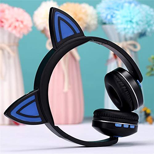 Bluetooth Headset Anime Cartoon Kopfhörer Drahtloses Bluetooth Headset@Blau Anime-headset