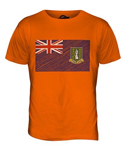 CandyMix Britische Jungferninseln Kritzelte Flagge Herren T Shirt Orange