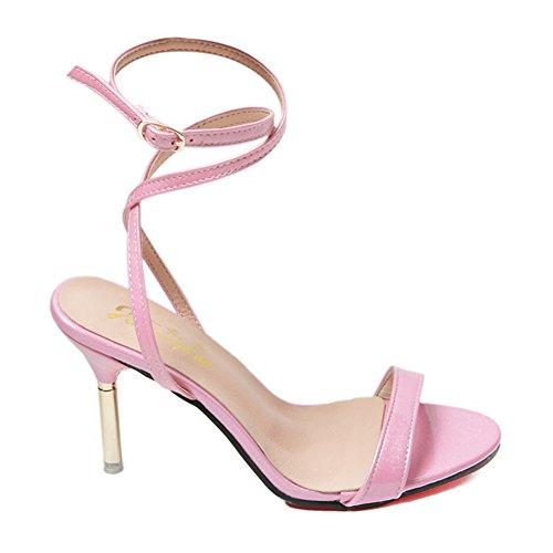 Lady Joker bout ouvert sandales en été en Europe et en Amérique/bouton pointu de simple shoes stiletto C