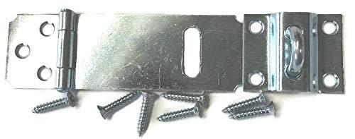 Verzinkte verstellbare Überfalle, 5,1 cm - antike moderne Möbel, Schubladen, Schranktüren, Truhe Box Deckel Vorhängeschloss + gratis Bonus (Skelett-Schlüsselanhänger) DL-C753-212ZP -