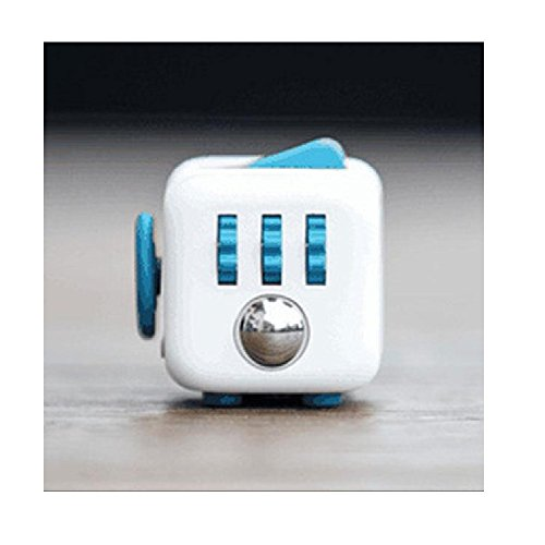 ENJOY JuYi Fidget Cube Relieves Stress And Anxiety for Children and Adults (Blue)
