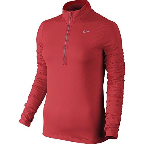 Nike Element Half Zip Maglia da Running Rosso/Argentato