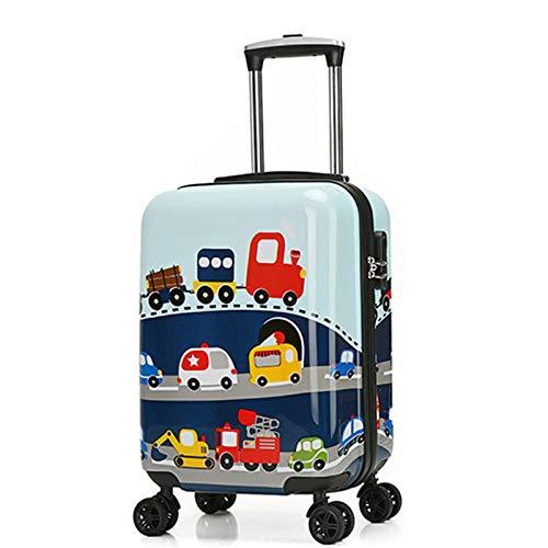Valigia moda per bambini valigia trolley valigia cartone animato per bambini , Car_19 pollici