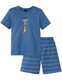 Schiesser Jungen Zweiteiliger Capt´n Sharky Knaben Schlafanzug Kurz