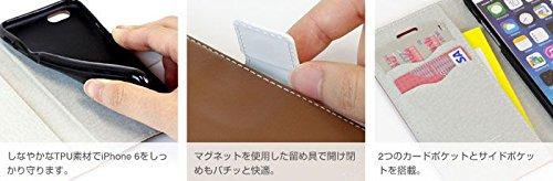 Solozen Cuir PU Style Case Diary pour iPhone 6 Plus de 5,5 pouces (brun foncé x Blanc) Green x White