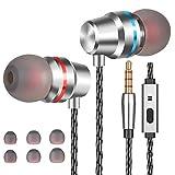Losvick Ecouteurs Intra-Auriculaires Filaires Casque Anti-Bruit avec Microphone avec Jack 3,5mm et Différentes Tailles de...