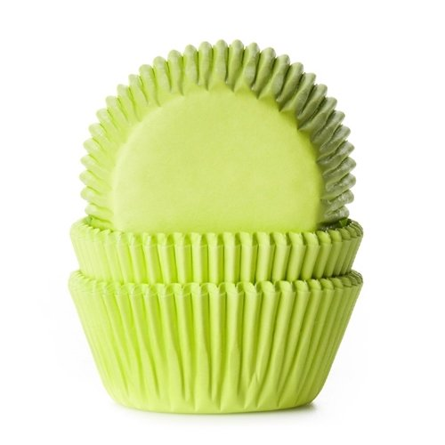 Cakes Supplies - Lot de 50 Caissettes Hom Vert Citron