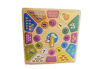 Allkindathings 993 - Reloj de Madera para niños con números de Aprendizaje