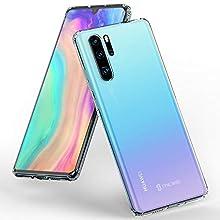 Syncwire Coque Huawei P30 Pro Transparente - Housse Huawei P30 Pro de Protection en Silicone Souple [Supporte Le Chargement sans Fil] Anti-Chute Étuis pour Huawei P30 Pro - Transparent