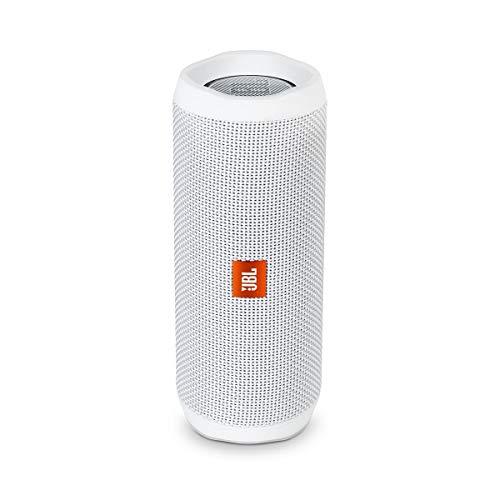 JBL Flip 4 Bluetooth Box in Weiß – Wasserdichter, tragbarer Lautsprecher mit Freisprechfunktion & Sprachassistent – Bis zu 12 Stunden Wireless Streaming mit nur einer Akku-Ladung
