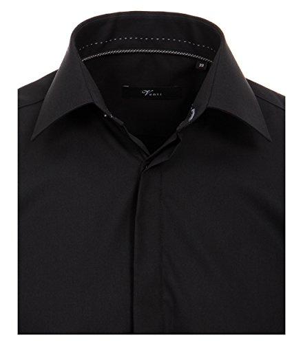 Michaelax-Fashion-Trade -  Camicia Casual  - Basic - Classico  - Maniche lunghe  - Uomo Schwarz (800)