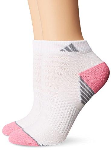 adidas Damen Superlite Prime Mesh Low Cut Socks (2Pack), Damen, White/Mono Pink-Pink Glow Marl/Onyx - Adidas Womens Low Cut Sock