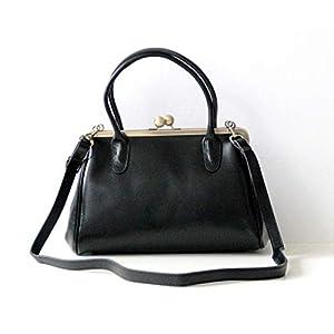 """Ledertasche/Leder Handtasche""""Sophie"""" in schwarz, im Vintage Style"""