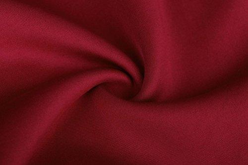 NiSeng Donne 1950 La Matita Elastica Dell'annata Veste il Vestito Senza Maniche di Bodycon Vino rosso