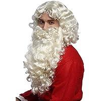 My Other Me Me-201576 Peluca y barba Santa Claus hombre Talla /única Viving Costumes 201576