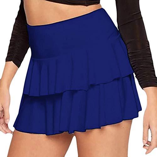 n Einfarbig Faltenröcke Mode Frauen Hohe Taille Rockabilly Unterrock Sommer Cosplay Mini Kurze Rock ()