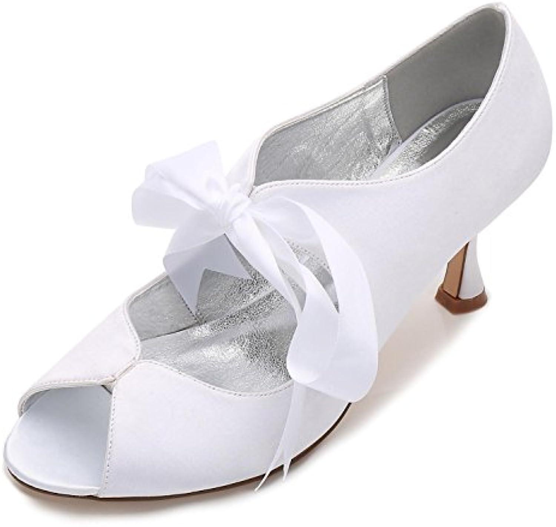 Elegant high Chaussure s Femmes Satin et et Satin Dentelle Peep Toe P17061-22 Haut Talon Ruban Chaussures de Mariée D'Été de...B07BT2SBS1Parent c1c4d0