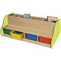 mobeduc doppelseitig Bench für 4Kinder mit Bücherregal, Holz, Apple grün, 138x 54x 92cm preisvergleich bei kinderzimmerdekopreise.eu