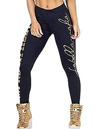 BIRAN-5 Leggings De Mujer Pantalones De Entrenamiento Yoga Imprimir De  Único Carta Pantalones De Pabellón Deportivo Cintura Media… 285528b32d5cc
