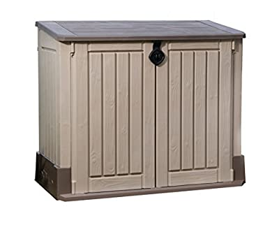 Keter Store It Out Midi Outdoor Plastic Garden Storage Shed, 130 x 74 x 110 cm - Beige/Brown
