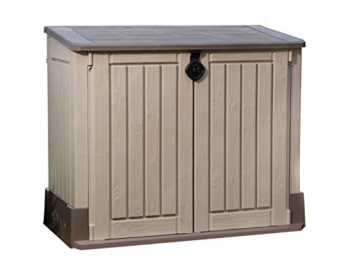 Keter Store It Out Midi Outdoor Plastic Garden Storage Shed, 130 x 74 x 110 cm - Beige/Brown Test