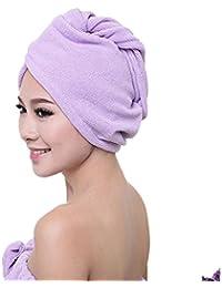 GillBerry mujer microfibra Toalla de baño Sombrero de pelo seco Secado rápido gorra