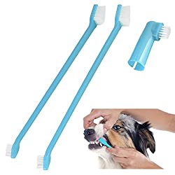 Pet Touch Doggy Dental Care Toothbrush Set - Blue