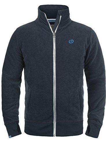 SOLID Laki Herren Sweatjacke Zip-Jacke mit Stehkragen aus hochwertiger Materialqualität, Größe:L, Farbe:Insignia Blue (1991)