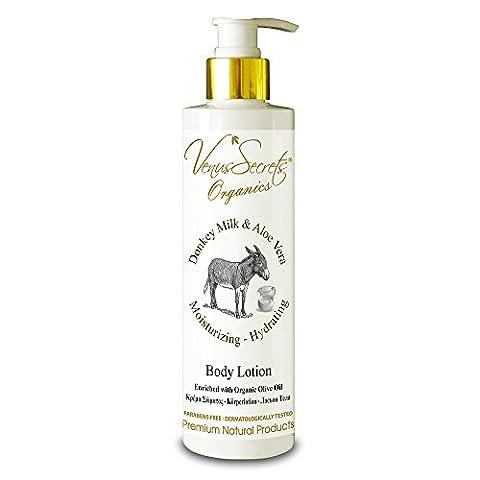 Lotion pour le corps hydratant with Donkey Milk–Body for Dry Skin–250ml–(Donkey Milk & Aloe Vera)