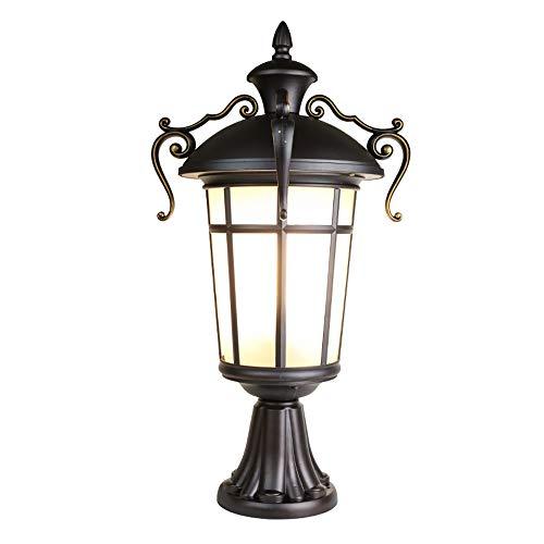 Hines Europäische traditionelle viktorianische Glaslaterne imprägniern im Freien Pfosten-Lampe E27 Zaun-Park-Landhaus-Parkentor Gazebo-Säulen-Pfosten-Lampen-regendichtes Tabellen-Licht (Traditionellen Tabelle Lampen)